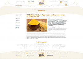 interior page design on the topic Agrarian industry — Online store Good cereals 12