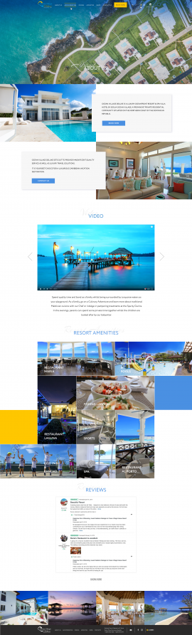interior page design on the topic Tourism — The site of the luxury resort Ocean Village Deluxe 4