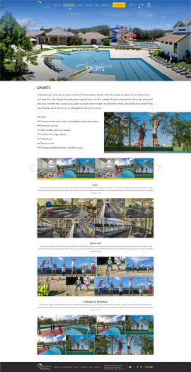 interior page design on the topic Tourism — The site of the luxury resort Ocean Village Deluxe 8