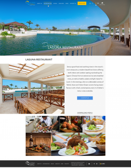 interior page design on the topic Tourism — The site of the luxury resort Ocean Village Deluxe 14