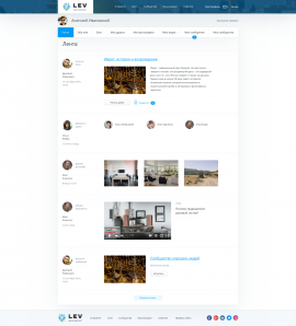 interior page design on the topic City portal — Israel social 40