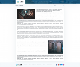 interior page design on the topic City portal — Israel social 41