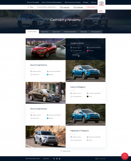 interior page design on the topic Automotive topics — Corporate website for the Toyota dealer Toyota Premium Center Vinnytsia 41