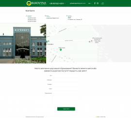 interior page design on the topic Tourism — The site of the airline Bukovyna Airlines 1