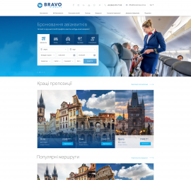 creation of sites on the subject Tourism project Airline Bravoairways website