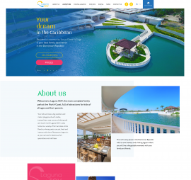 creation of sites on the subject The site is in English project Corporate site Laguna SOV