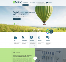 creation of sites on the subject Medical topics project Website of the CSD Medical Laboratory