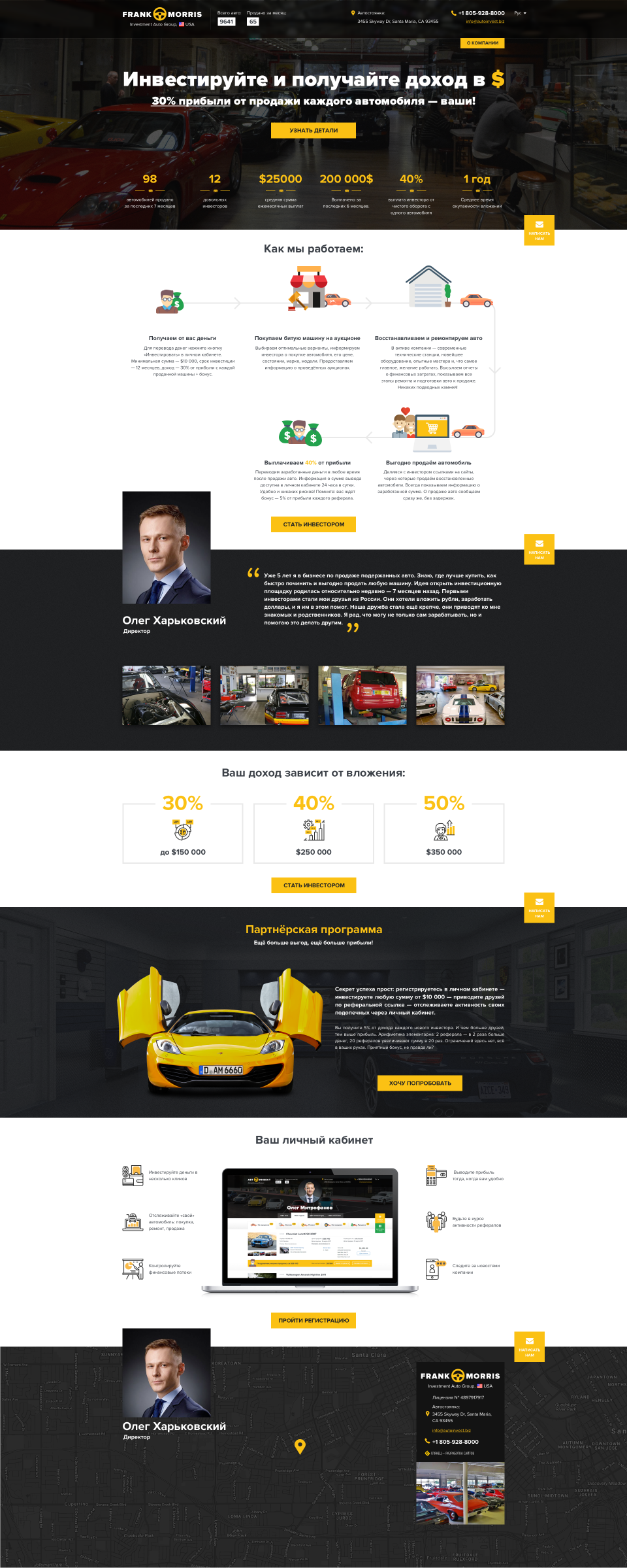"home page design — Investments in cars — ""AutoInvest""_0"